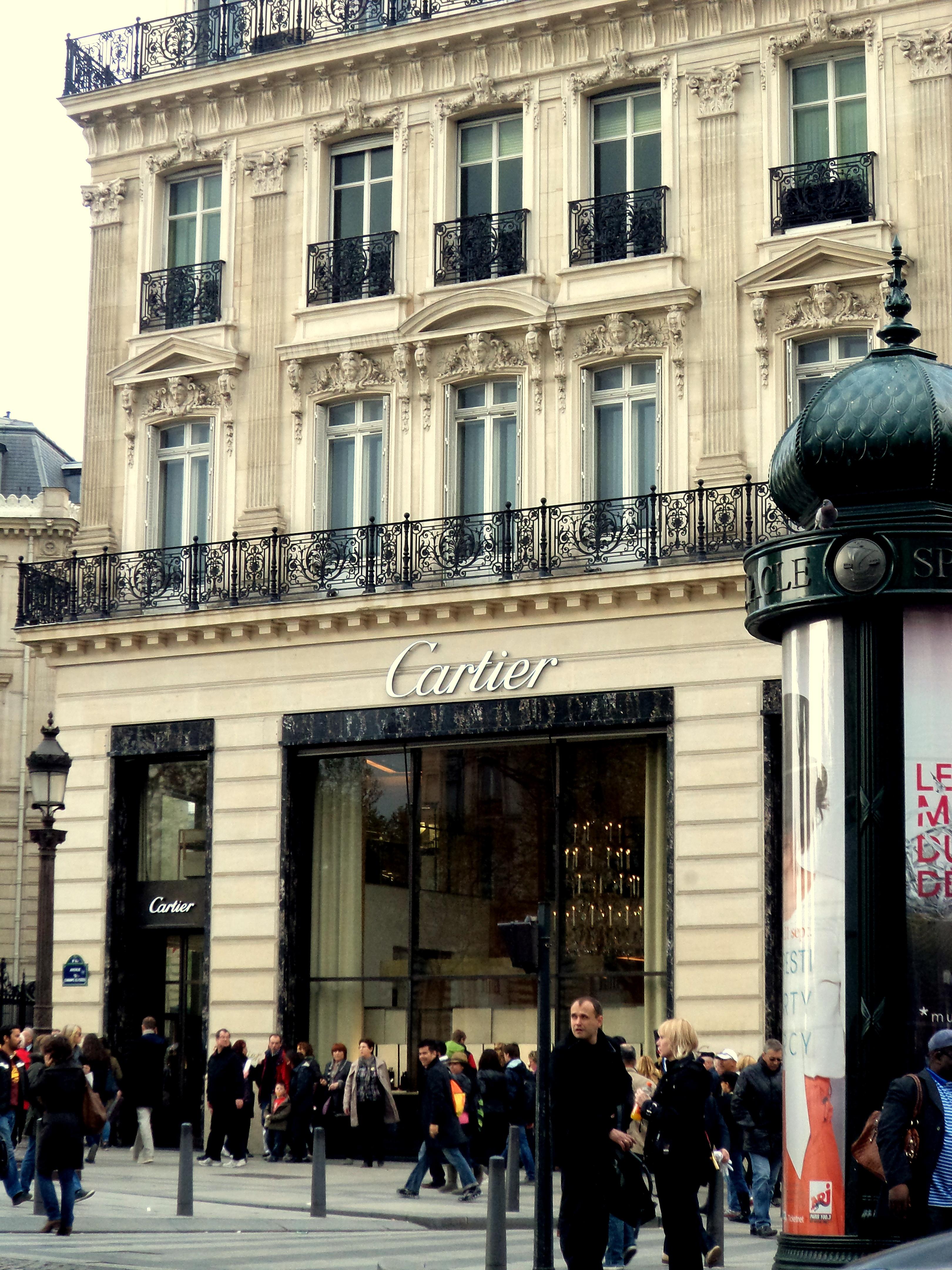 Cartier showroom...